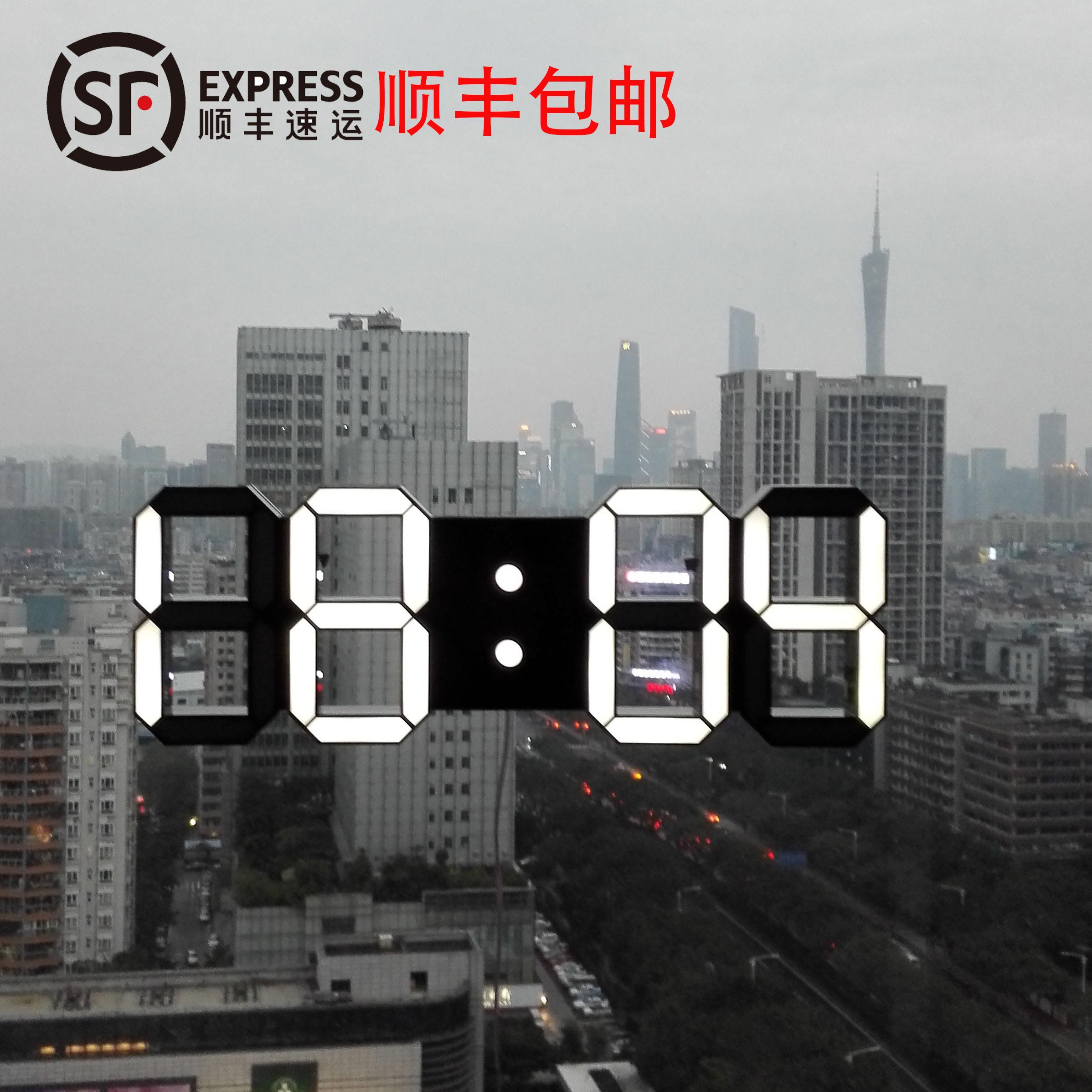 Доставка от компании sf express включена LED часы электронный тайвань колокол сиденье колокол немой гостиная спальня творческий современный простота большой количество