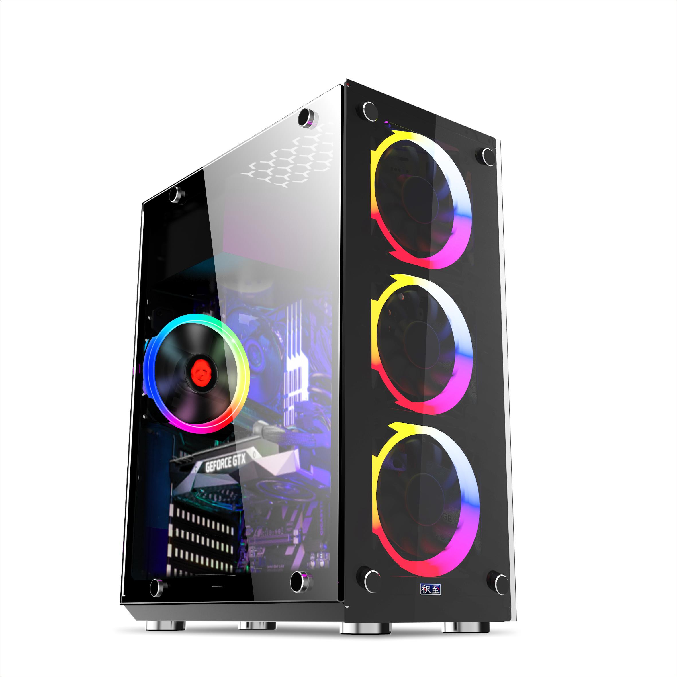 EVESKY积至 光影ATX电脑机箱 台式机电脑主机箱水冷游戏机箱 侧透