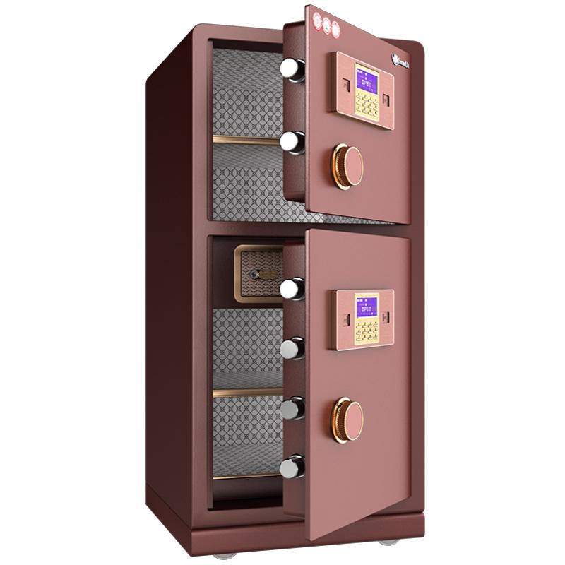 保险柜亚洲AG集团办公大型80cm双门双层全钢防撬1米1.2m1.5米指纹保险箱