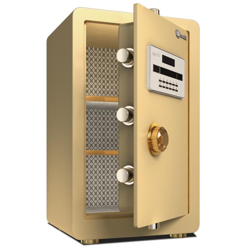 虎翔保险柜家用办公小型全钢入墙密码指纹保险箱60cm床头柜保管箱