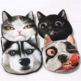 猫脸狗头硬币包卡通零钱包