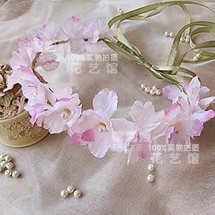 哦哟喂[精灵之约系列] 新娘 头饰 清新春色 花朵 花环 摄影 新品