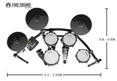 Электронный барабан FIRE Black300