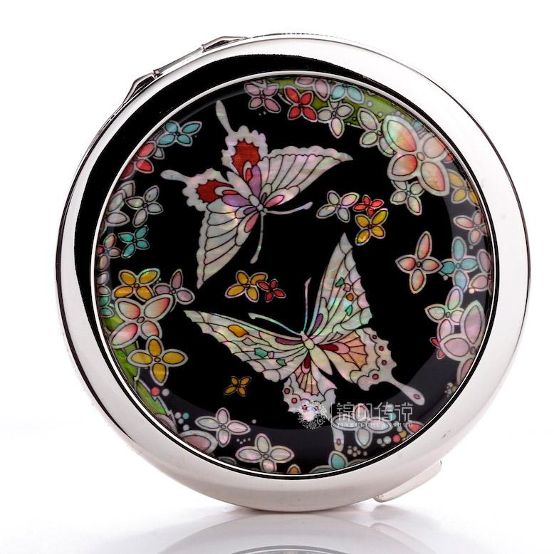 锦贝传说不锈钢蝴蝶化妆镜