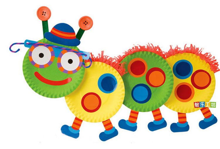10个装圆形彩色纸盘手工制作diy手工创意粘贴类幼儿园图片
