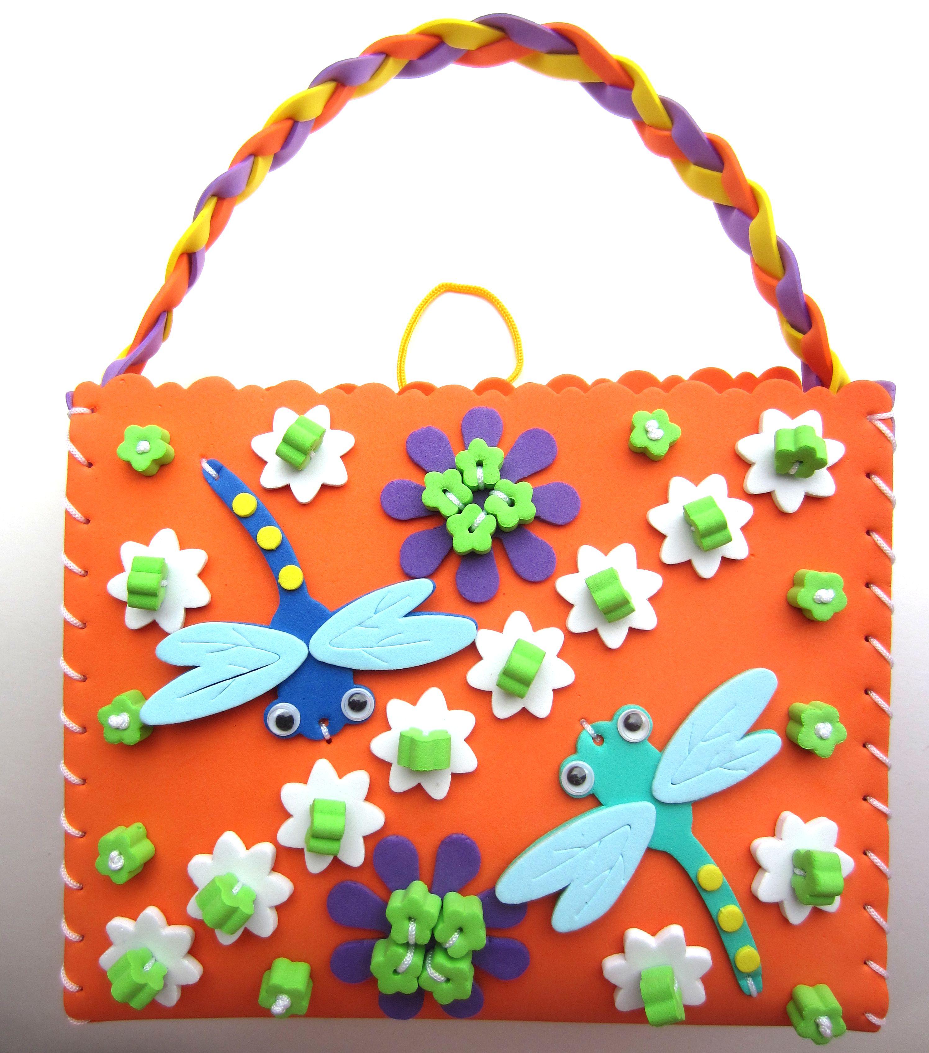 eva手工制作包包手缝包 手工缝制手提包 diy幼儿园材料包玩具贴画