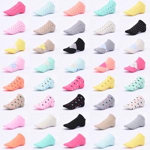 女士船袜子夏季薄款棉多色可爱糖果色浅口短袜日韩透气运动袜防臭