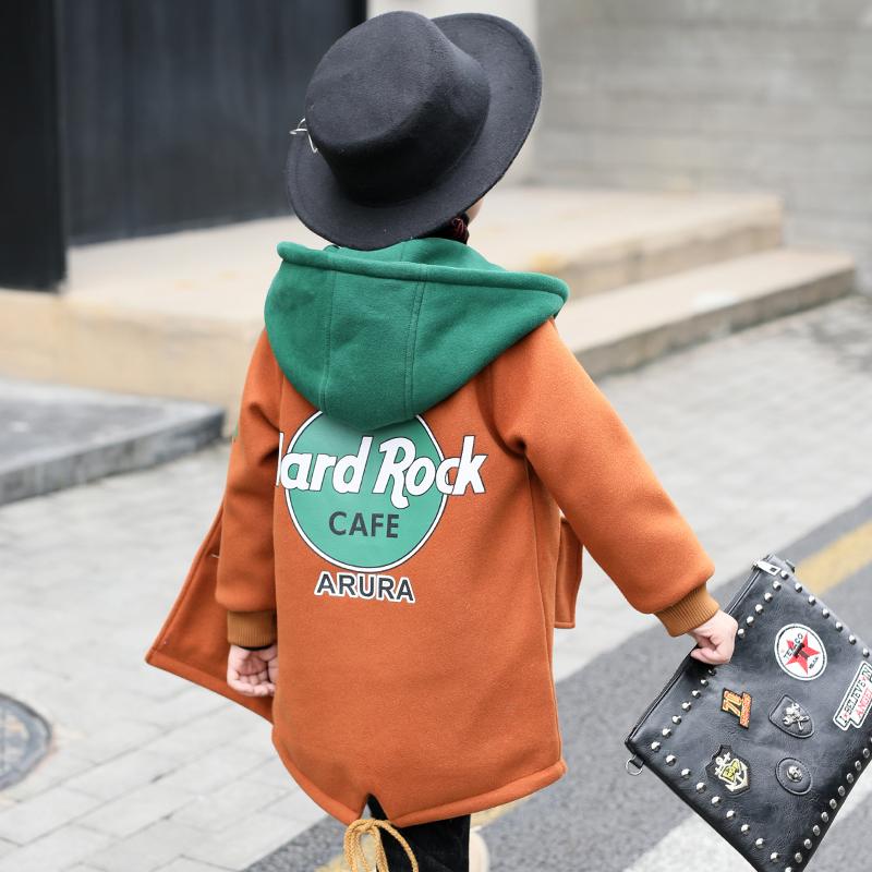 男童装毛呢外套秋冬装2018新款儿童韩版中长款加厚呢子大衣男孩潮