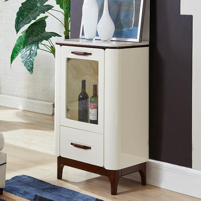 欧梵尼 北欧现代实木酒柜 玻璃装饰大理石柜客厅储物柜电视柜边柜