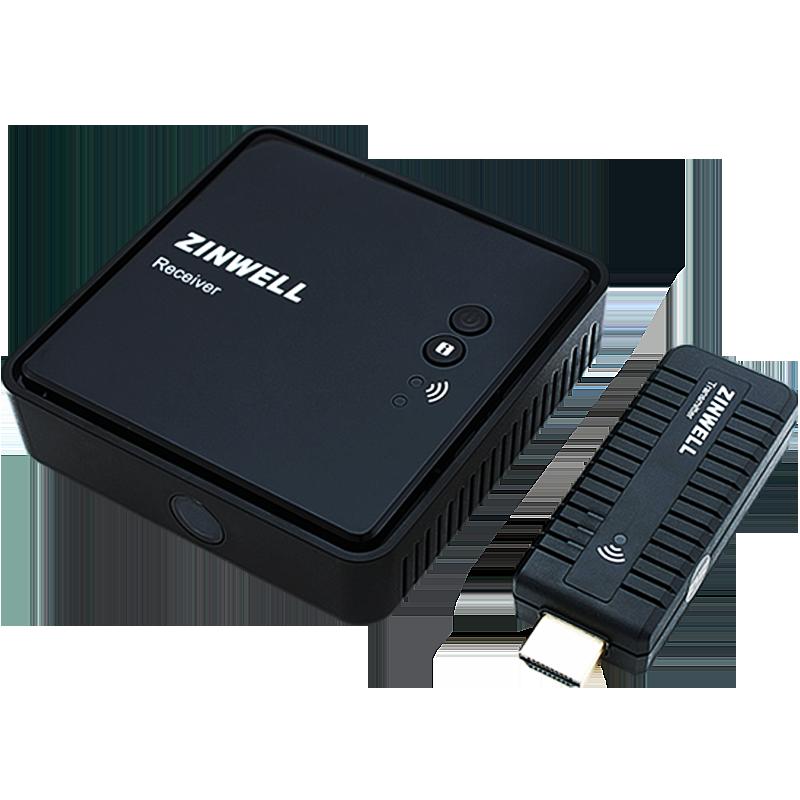 ZINWELL 全高清无线影音传输器投影WHD-100收发器HDMI商务会议