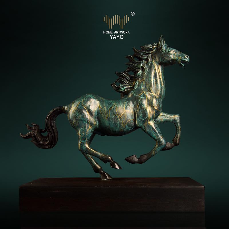 纯铜马装饰摆件马到成功工艺品家居开业送礼物艺术招财办公室桌面
