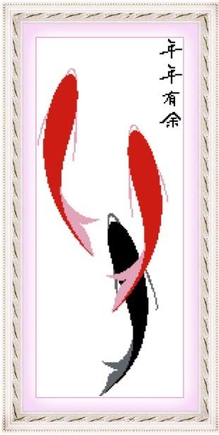 绣魁精准印花十字绣780524