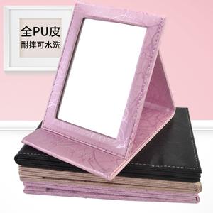 耐摔折叠化妆镜台式梳妆镜随身大中小号学生宿舍镜子便携桌面镜子