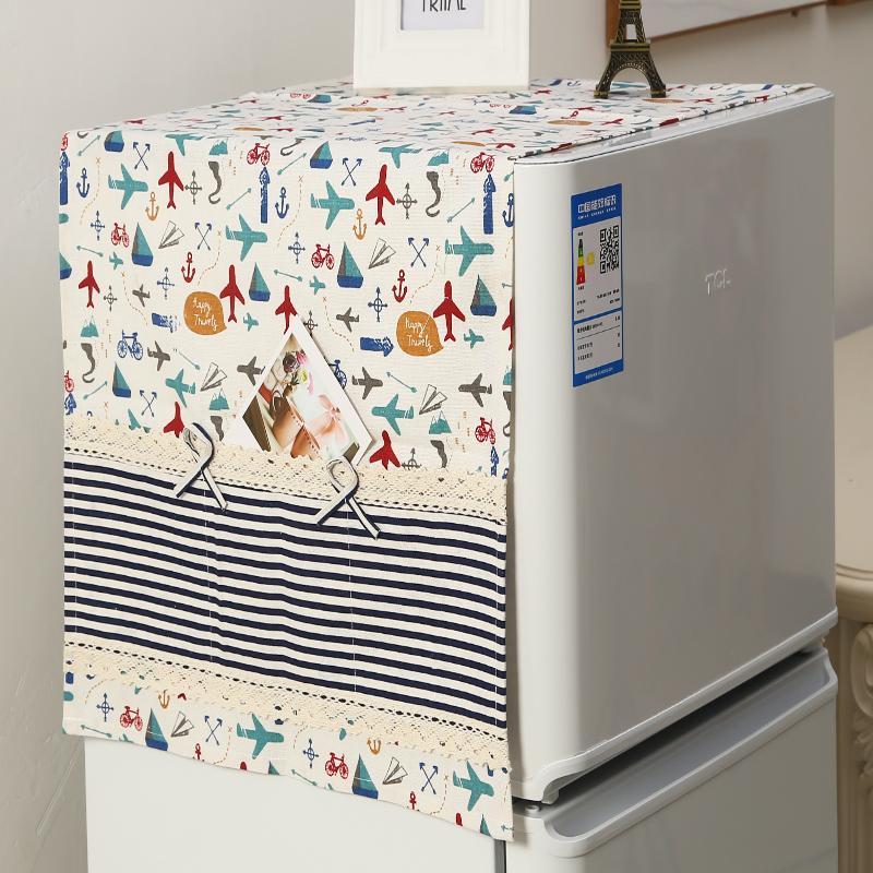 双门冰箱罩单对开门冰箱防尘罩蕾丝布艺冰箱洗衣机防尘盖布盖巾