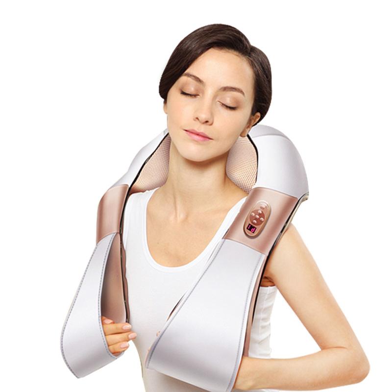 艾斯凯揉捏按摩披肩颈肩乐车载颈椎按摩器仪颈部肩部腰部全身