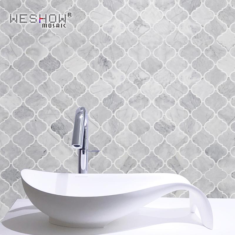 卫生间墙砖天然石材白色灯笼文化石阳台厨房防滑背景墙厕所墙瓷砖