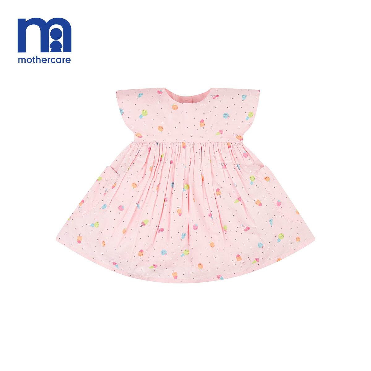 mothercare婴童夏装女婴夏日新款潮流时尚短袖公主裙蓬蓬裙连衣裙