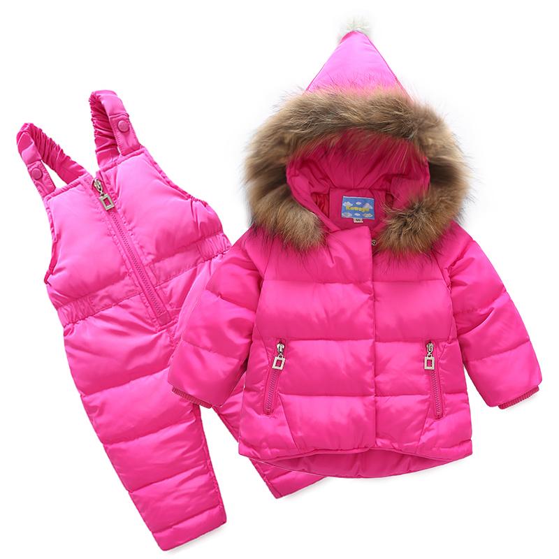 Children S Down Jacket Set Two Piece Girl Baby Boy Scorpion Fur
