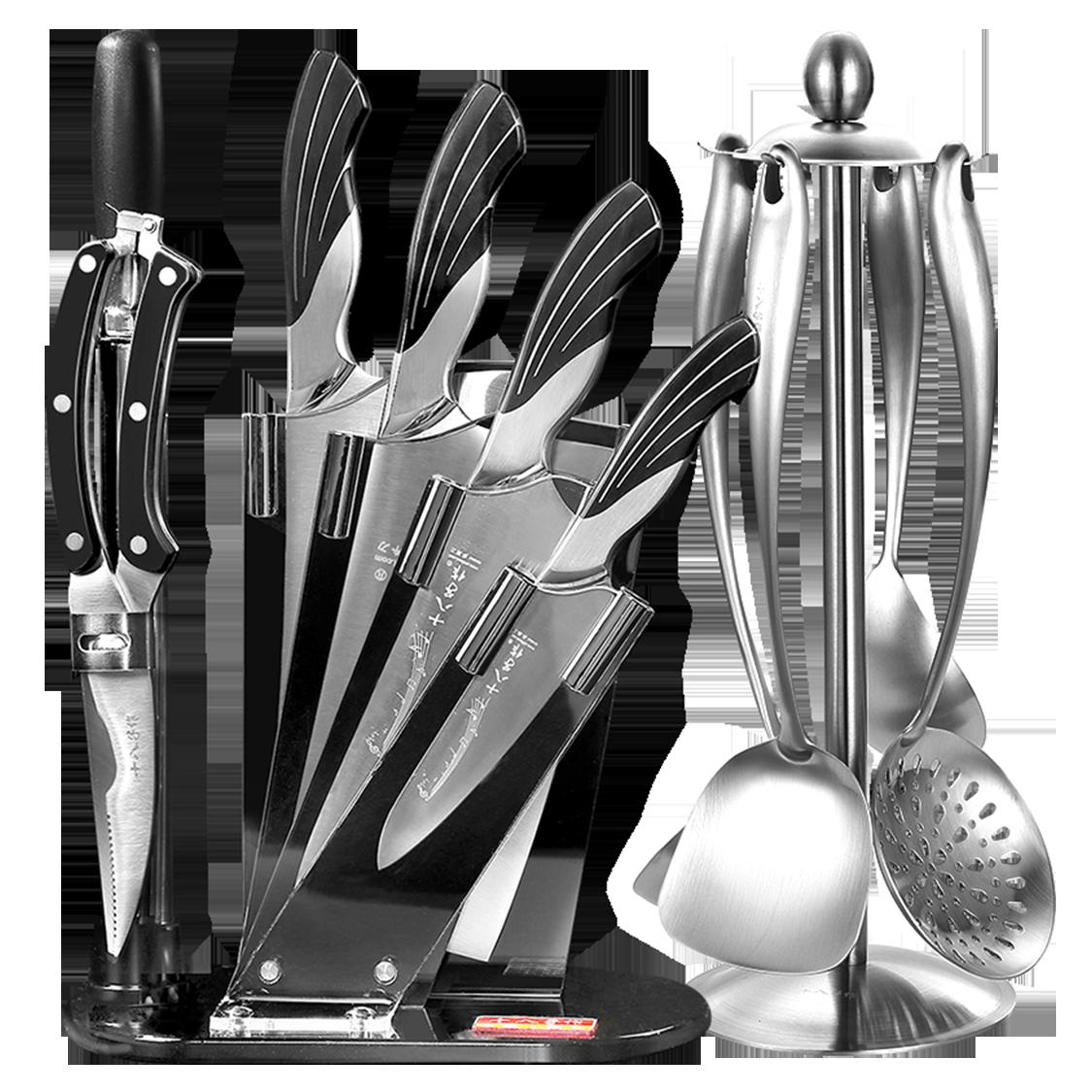 十八子作刀具套装 厨房全套厨具炊具组合家用菜刀切菜片刀套刀