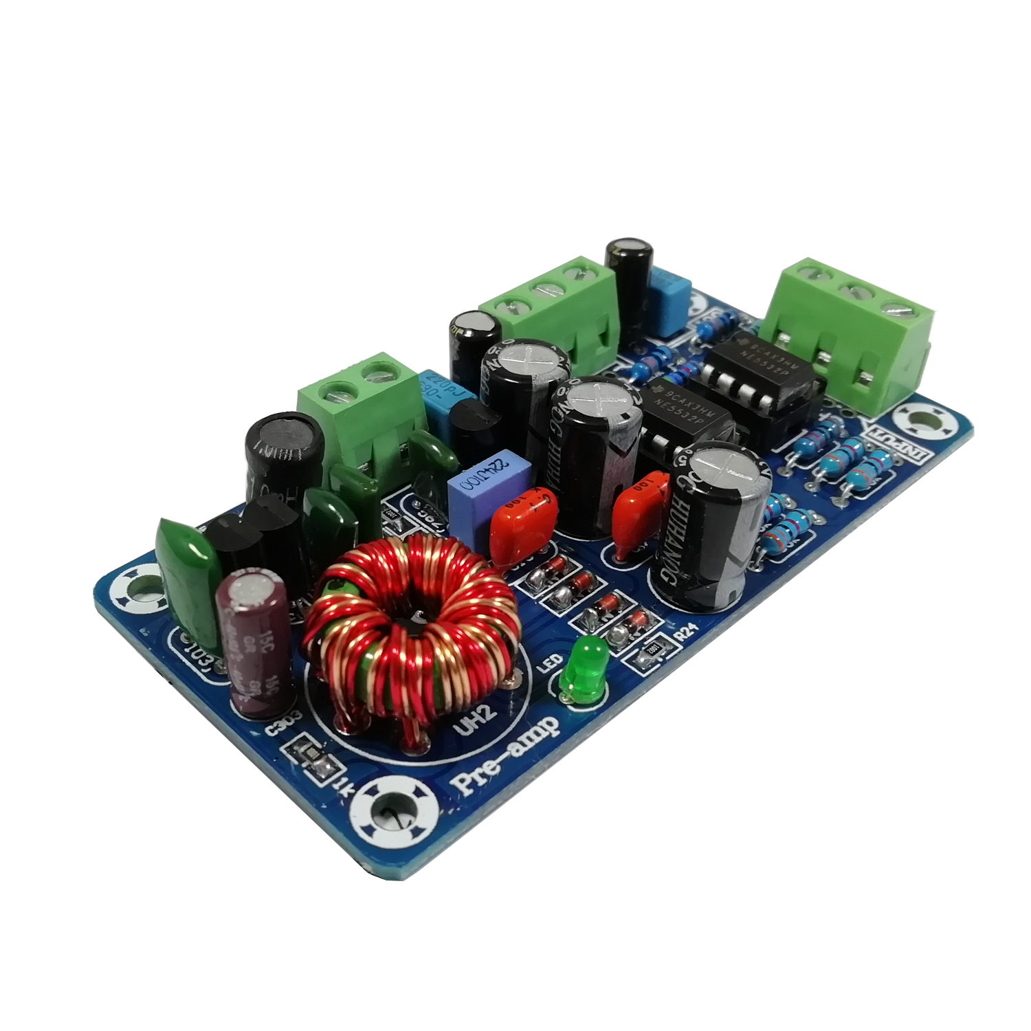 Car Audio Source Preamplifier Board Pure Amplifier Pre Amp Circuit Preamp Sound Quality Optimization Effect Enhancer