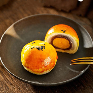 螺滋螺味南宁雪媚娘海鸭蛋麻薯蛋黄酥55g*6枚装糕点网红早餐零食