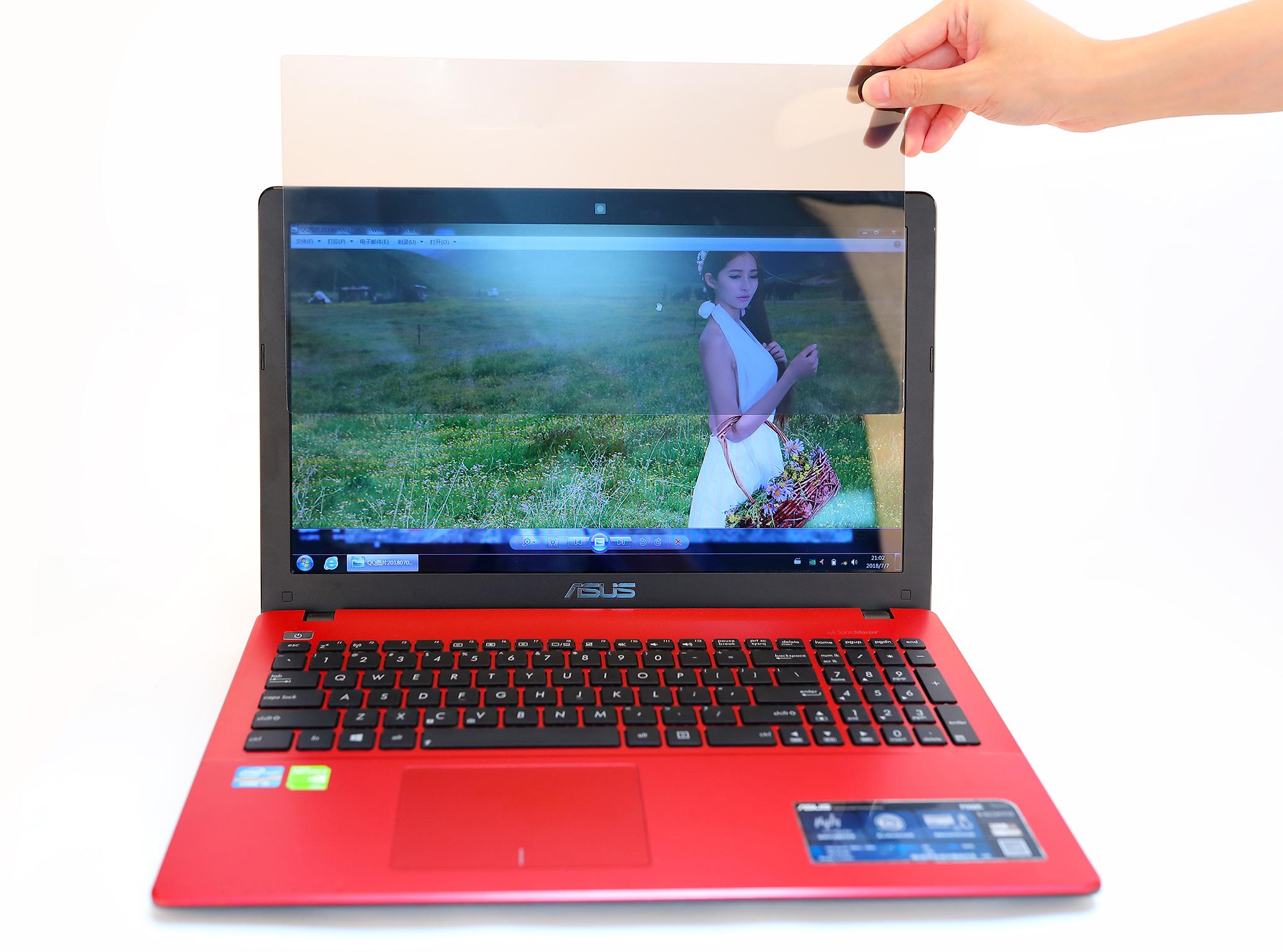 笔记本电脑防偷窥膜台式屏幕防偷看膜防窥视屏片14-15.6-19英寸苹果电脑膜显示器隐私保护贴膜电脑辐射防护屏