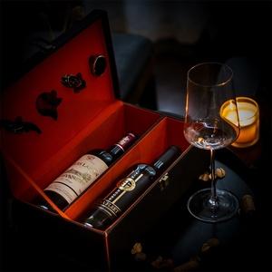 法国原瓶进口红酒路易拉菲塞纳湾组合干红葡萄酒2支送整箱礼盒装