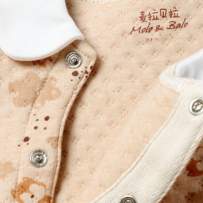 新生儿连体衣纯棉秋冬保暖加厚宝宝彩棉哈衣长袖爬服婴儿保暖内衣产品展示图5