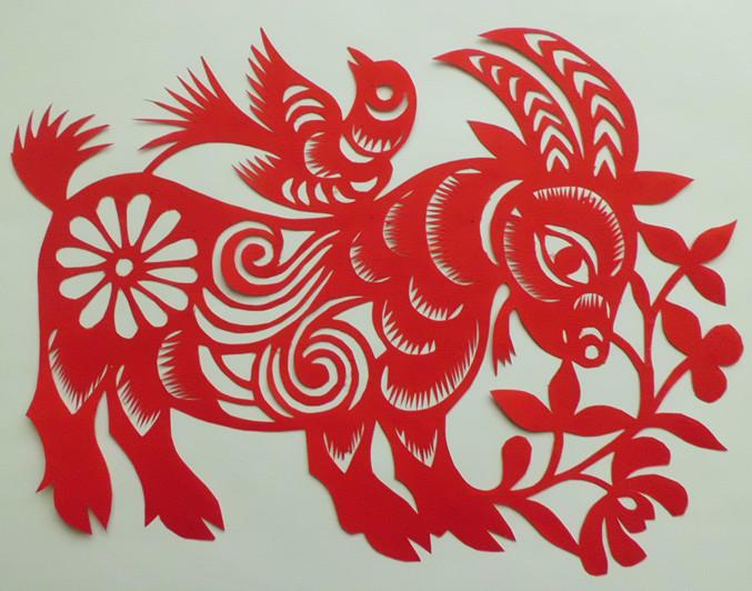 剪纸纯手工制作十二生肖整套作品册中国地区特色礼品送老外装饰贴图片