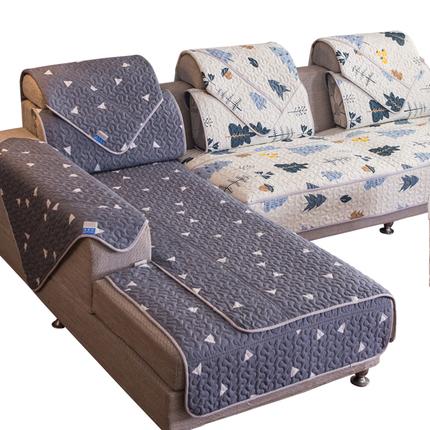 沙发垫四季布艺防滑欧式简约现代沙发套全包萬能套巾罩通用坐垫子