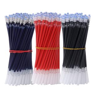学生中性笔芯0.38子弹头水笔替芯全针管黑红蓝色0.5mm学习办公