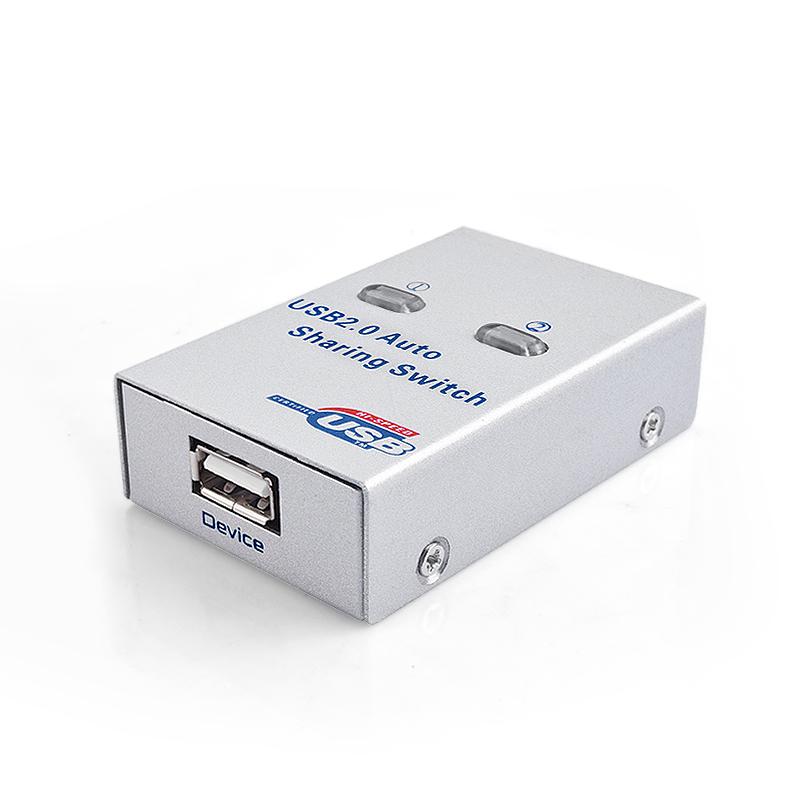 达而稳 USB打印机共享器二进一出电脑方口打印线2进1出自动切换器多接口分线器一分二分支器交换器一拖二