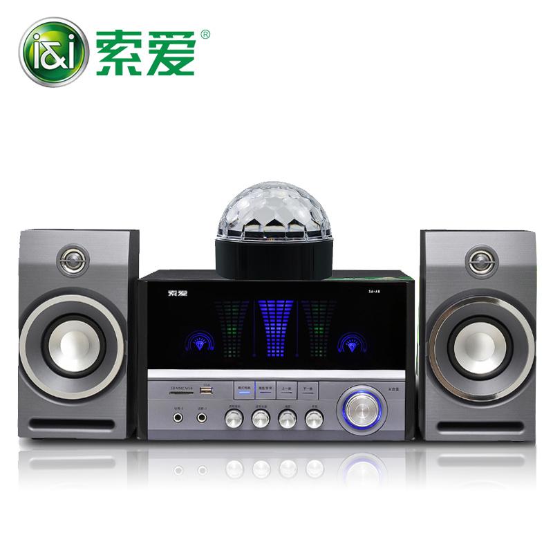 索爱 SA-A8台式电脑音响低音炮家用组合音箱实木K歌插卡无线蓝牙