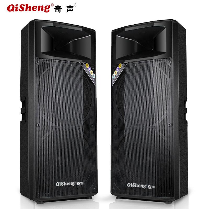 Qisheng-奇声 LX-L13双15寸专业舞台音响套装大功率户外婚庆音箱调音台有源型礼仪广场舞乐队演出演讲唱歌K歌