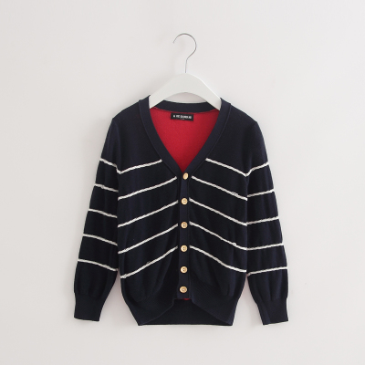 (Three 30% off) brand children's clothing discount boys and girls sweaters striped cardigan in large children 2 colors 51051