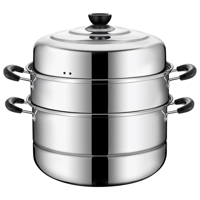 ステンレスの蒸し器の3階以上の3階蒸し饅頭の蒸し器の厚さは1~2階の家庭用ガスレンジ用電磁炉です。,タオバオ代行-代行奈々