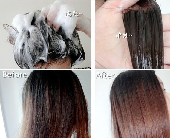 干枯发尾的改善看得见. 头发损伤厉害的,带着护发油用!图片