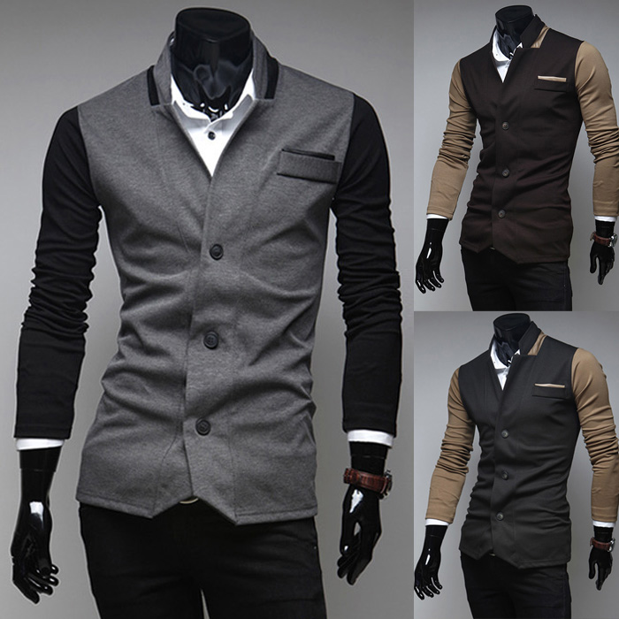 Spring New Men's Korean Fashion Personality Men's Casual Coat