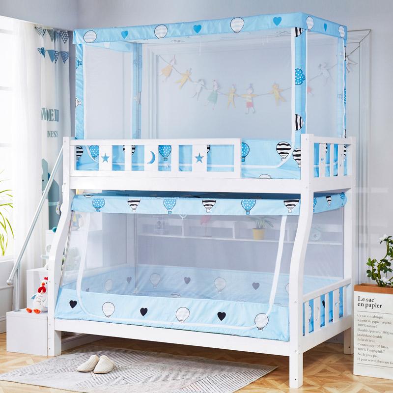 子母床蚊帐上下铺1.5米双层床高低儿童床支架1.2m学生宿舍蒙古包