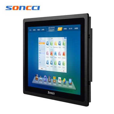 soncci索奇8-10.4-12-15-17-19寸工业平板电脑 IP65防水全平面电容屏嵌入式触摸屏工控一体机 J1900-i3-i5
