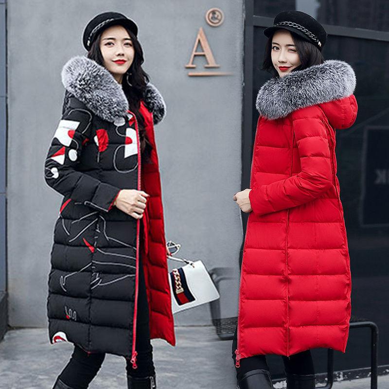 冬装2019新款羽绒棉服oversize女潮双面穿棉衣中长款冬季外套棉袄