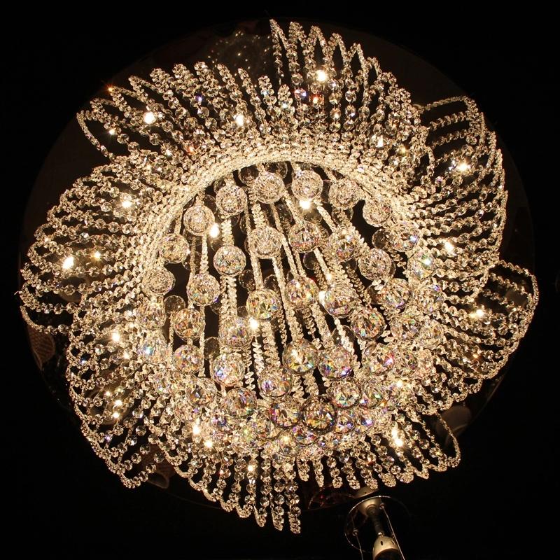埃及欧式水晶吸顶灯圆形客厅灯餐厅现代大气led聚宝盆水晶灯饰