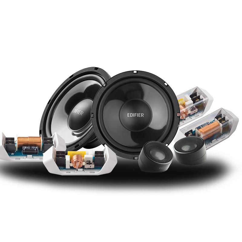 漫步者汽车音响喇叭6.5寸套装同轴高音头重低音车载改装GF651bc