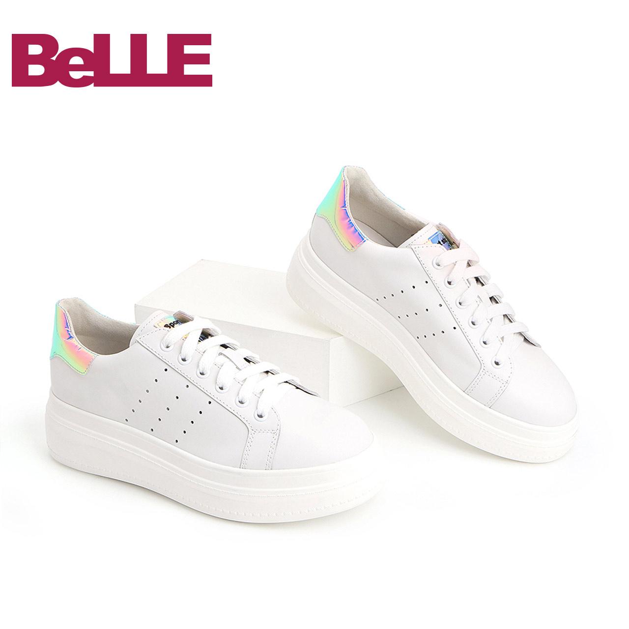 Belle-百丽小白鞋2018秋商场同款新款舒适休闲女鞋BYDA2CM8