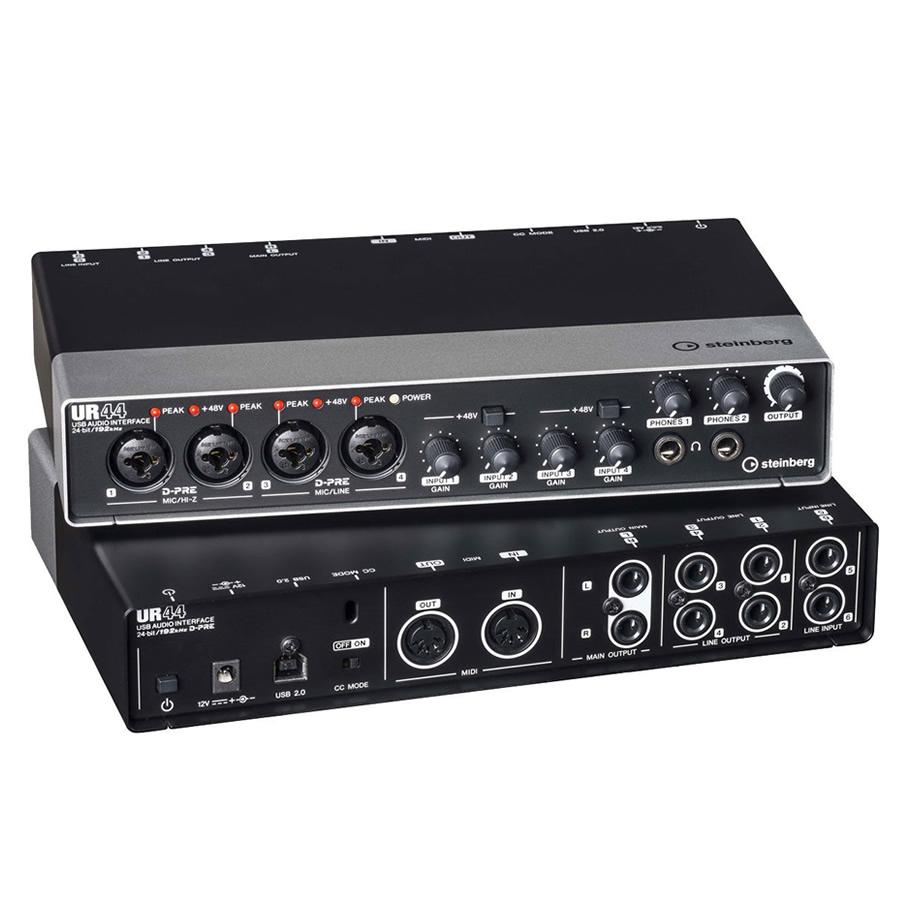 雅马哈-YAMAHA UR44 USB外置专业录音K歌直播声卡 小型工作室录音棚乐队混音配音编曲音频接口