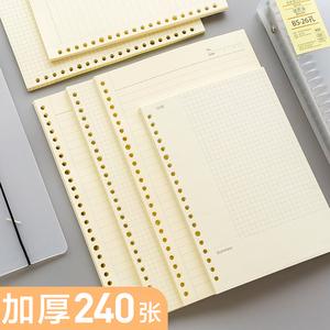 活页本替芯A5网格康奈尔错题20孔B5可拆卸26孔笔记本A4...