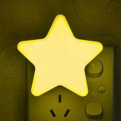 晨之光插电光控感应led星星小夜灯 适合卧室床头宝宝喂奶起夜小灯