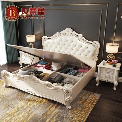 欧式双人床1.5米气动高箱床公主床1.8米法式婚床箱体床 储物床