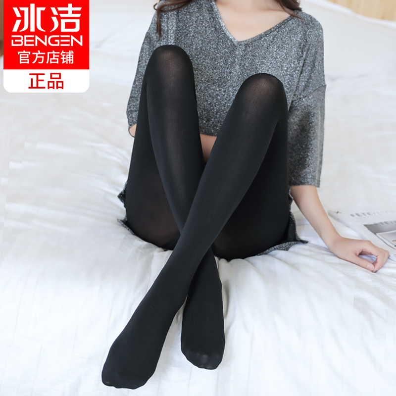 Ice clean leggings female summer thin section wear large size pantyhose spring and autumn anti-hook silk black stockings meat-colored socks
