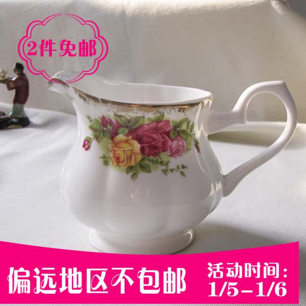 Соусница Европейский Золотой Розы набор костяного фарфора чашки кофе и молока, можно кувшин молока танк молока для молока